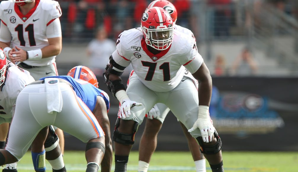 Georgia loses both offensive tackles to NFL draft
