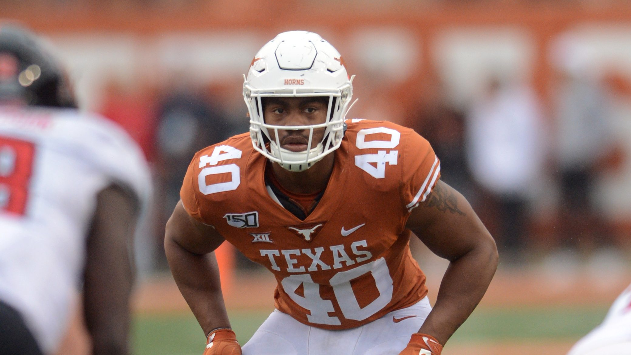 Texas LB Ayodele Adeoye to miss spring practice with foot injury